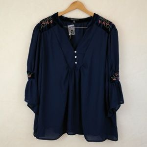 Miss Lili Embroidered Blouse [nwt]